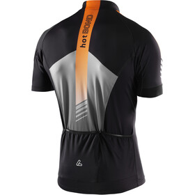 Löffler Hotbond Reflective Bike Trikot Half-Zip Herren schwarz/orange